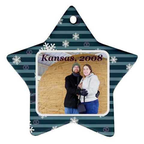 Christmas Ornament By Charity   Ornament (star)   Zun8r8thkafz   Www Artscow Com Front