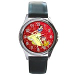 snow white watch - Round Metal Watch