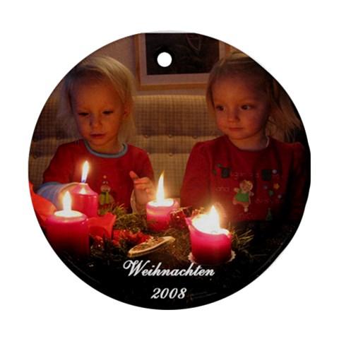 Christmas Ornament 2008 By Johannes   Ornament (round)   Exm3vy8zumx7   Www Artscow Com Front