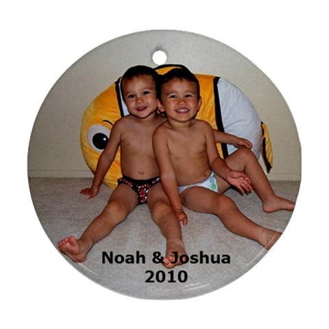 Noah & Joshua By Leithompson   Ornament (round)   3912y4slvgdk   Www Artscow Com Front