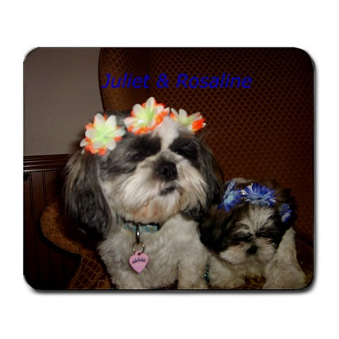 Pups  Nicki s New Mousepad By Sherry Gay   Large Mousepad   Unhm5rg0f3pj   Www Artscow Com Front