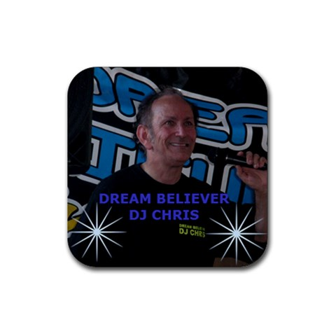 Dj Chris By Maryka Watson   Rubber Coaster (square)   Oatcljueqb09   Www Artscow Com Front