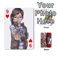 Pwcards By Wes   Playing Cards 54 Designs   Fh6uhkjiy9tq   Www Artscow Com Front - Heart9
