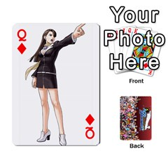 Queen Pwcards By Wes   Playing Cards 54 Designs   Fh6uhkjiy9tq   Www Artscow Com Front - DiamondQ