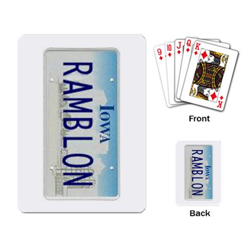 Rods Playing Cards By Cheryl   Playing Cards Single Design   Jxzpz0m505we   Www Artscow Com Back