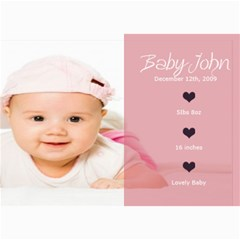 Baby Card By Wood Johnson   5  X 7  Photo Cards   Nvwpd1y1jepf   Www Artscow Com 7 x5 Photo Card - 5