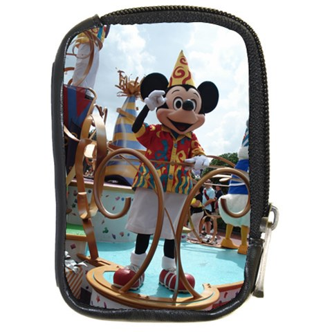Mickey Celebration Camera Case By Terri   Compact Camera Leather Case   Mi1y3rc69ar0   Www Artscow Com Front