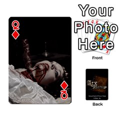 Queen Playing Cards 2 Sides   Arx Mortis By Sheri   Playing Cards 54 Designs   Im757t2ei6pn   Www Artscow Com Front - DiamondQ
