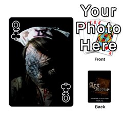Queen Playing Cards 2 Sides   Arx Mortis By Sheri   Playing Cards 54 Designs   Im757t2ei6pn   Www Artscow Com Front - ClubQ