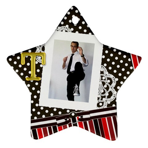 Travis Ornament By Keri Orr   Ornament (star)   5kjkxmson6vc   Www Artscow Com Front