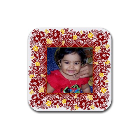 Ena 1 By Anu   Rubber Coaster (square)   93x0x58gve74   Www Artscow Com Front