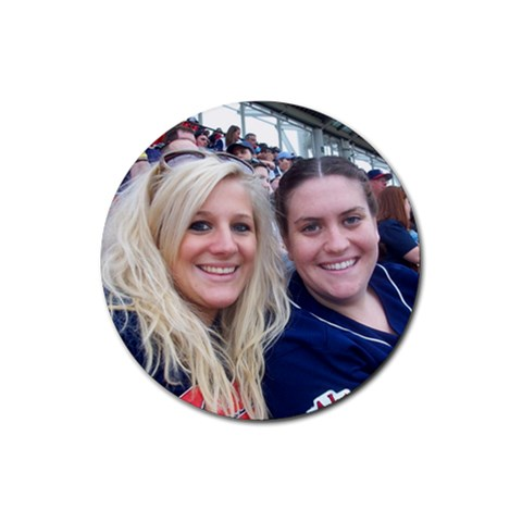 Kara & Megan By Zre   Rubber Coaster (round)   Wyyg4ebjvimh   Www Artscow Com Front