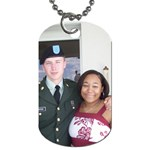 John Robert & Alexandra - Dog Tag (One Side)