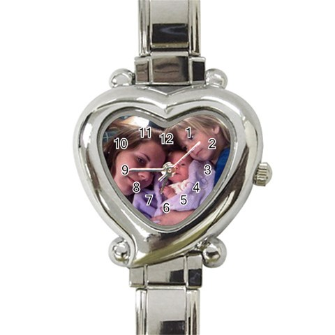 My Girls Watch By Pamela Kardos Jameson   Heart Italian Charm Watch   Uy9w8jc8eoo4   Www Artscow Com Front