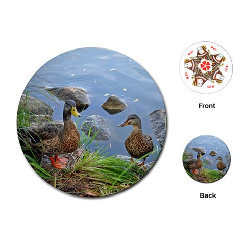 My Duck Cards By Erika Breitbach   Playing Cards (round)   U69c8agis2l0   Www Artscow Com Front