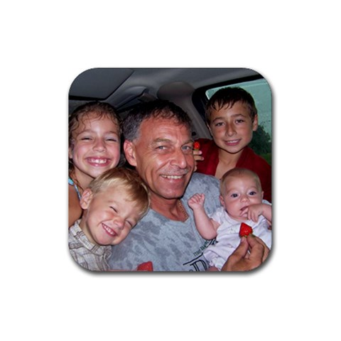 Happy Father s Day By Stacie George   Rubber Coaster (square)   3wamf2a9skkz   Www Artscow Com Front