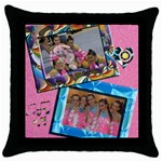 cojin tiff2 - Throw Pillow Case (Black)