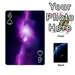 Space Cards By Krista   Playing Cards 54 Designs   Ctci5ufglobx   Www Artscow Com Front - Spade4