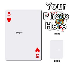 Family Photo Playing Cards By Nicole Hendricks   Playing Cards 54 Designs   Hrgl5eh7w5sr   Www Artscow Com Front - Heart5