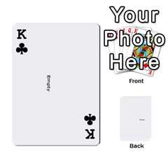 King Family Photo Playing Cards By Nicole Hendricks   Playing Cards 54 Designs   Hrgl5eh7w5sr   Www Artscow Com Front - ClubK