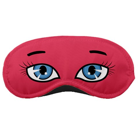 Pink With Blue Eyes And Eyebrows By Margaret   Sleeping Mask   Lkm8xdas0jnn   Www Artscow Com Front