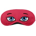 pink with blue eyes and eyebrows - Sleeping Mask