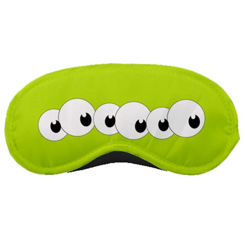 Green With Lots Of Eyes By Margaret   Sleeping Mask   Iuyf6mhqj94c   Www Artscow Com Front