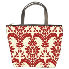 Bucket Bag   Red Toile By Lisa   Bucket Bag   Lmo2y5s3c3e7   Www Artscow Com Front