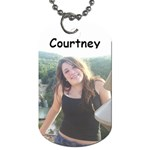Courtney Dog Tag - Dog Tag (One Side)