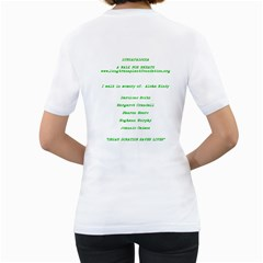 Lungapalooza:    Team  One Breath At A Time  By Gail Honeycutt Csizmar   Women s T Shirt (white) (two Sided)   Fulumh07tm6l   Www Artscow Com Back