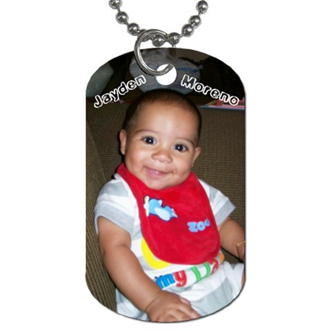 Jayden Dog Tag By Rebecca M Riojas   Dog Tag (one Side)   Xhhxk247gmbb   Www Artscow Com Front