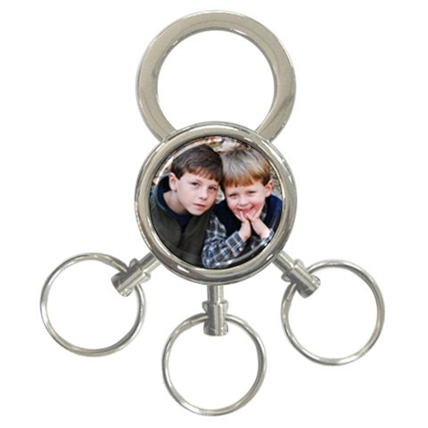 Keychain With Ethan And Jacob By Wendy Green   3 Ring Key Chain   5bpi1wt535ni   Www Artscow Com Front
