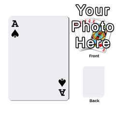 Ace Mish s Cards Noosa  By Michelle Steele   Playing Cards 54 Designs   Zkac26m274xq   Www Artscow Com Front - SpadeA