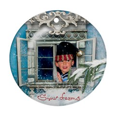 Owen Ornament By Lily Hamilton   Round Ornament (two Sides)   Qt1upf4jk0md   Www Artscow Com Front