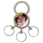 Keyring with detachable links - 3-Ring Key Chain