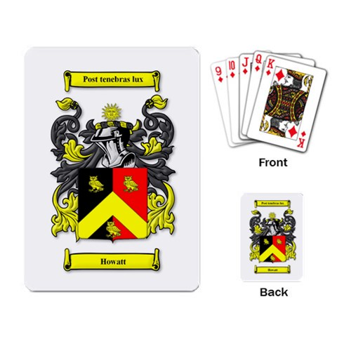 Howatt Crest/motto Playing Cards By Janelle   Playing Cards Single Design   Ja6nbvf078ke   Www Artscow Com Back