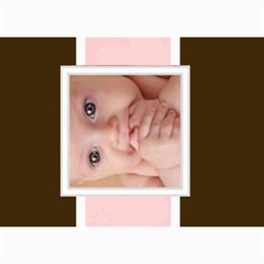 Pink For Baby  By Joely   5  X 7  Photo Cards   Tx39jhhdw4xi   Www Artscow Com 7 x5 Photo Card - 1