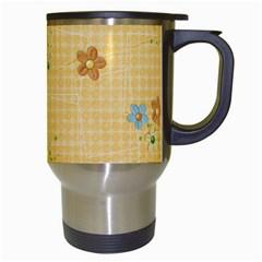 Floral Travel Mug  Template By Mikki   Travel Mug (white)   V15hr8ism43r   Www Artscow Com Right