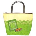 Bucket Bag, butterfly & flowers