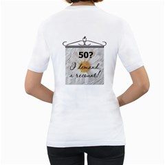 50th Birthday Ladies T Shirt By Lil    Women s T Shirt (white) (two Sided)   Nyfutt32r7ak   Www Artscow Com Back