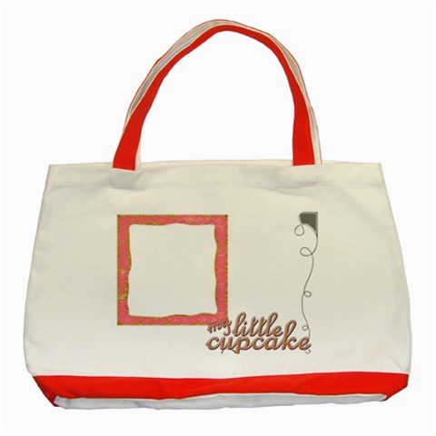 Cupcake Red Tote  By Catvinnat   Classic Tote Bag (red)   U3j3fht091mg   Www Artscow Com Front
