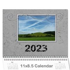 Simple Silver 2015 Calendar By Catvinnat   Wall Calendar 11  X 8 5  (12 Months)   21g6eq940j8z   Www Artscow Com Cover