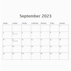 Simple Silver 2015 Calendar By Catvinnat   Wall Calendar 11  X 8 5  (12 Months)   21g6eq940j8z   Www Artscow Com Sep 2015