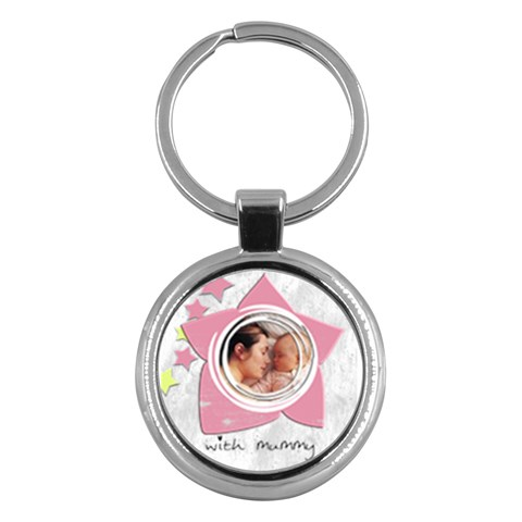 Baby Girl By Carmensita   Key Chain (round)   Mavd16h8416i   Www Artscow Com Front