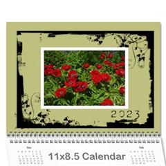 Khaki Grunge Calender 2015 By Catvinnat   Wall Calendar 11  X 8 5  (12 Months)   Xpuobygmfs06   Www Artscow Com Cover