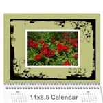Khaki Grunge Calender 2015 - Wall Calendar 11  x 8.5  (12-Months)