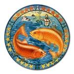 Pisces Zodiac Mousepad - Round Mousepad