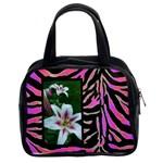 Psychadelic Zebra Handbag Template - Classic Handbag (Two Sides)