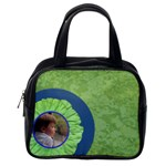 Green Blue Flower Handbag - Classic Handbag (One Side)