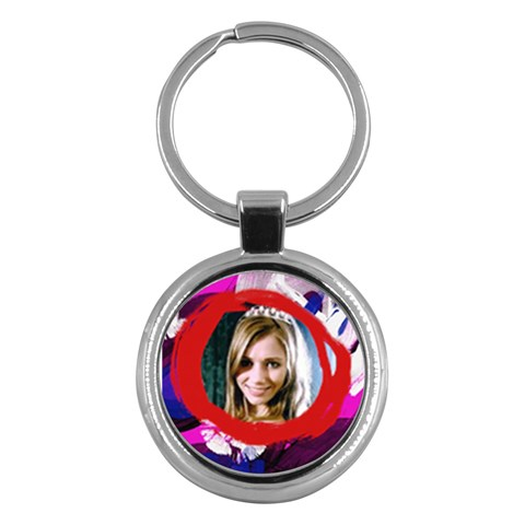 Keychain Painted By Jorge   Key Chain (round)   7ohlg2uvfr54   Www Artscow Com Front